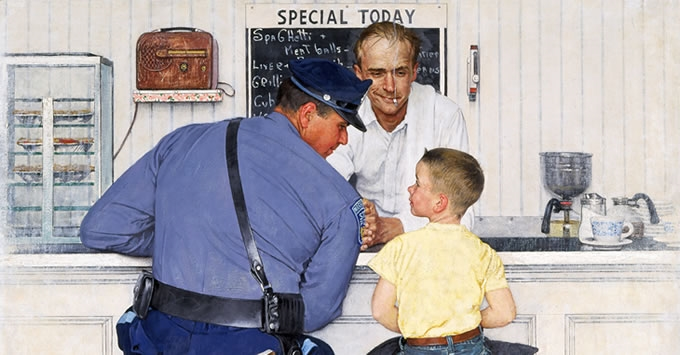 The American dream of Norman Rockwell in exhibition in Rome