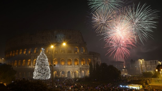 Waiting for 2015 partying and dancing in the streets of ancient Rome!