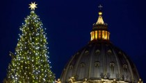 Christmas tree, the nativity scene and new lights at St. Peter sqaure